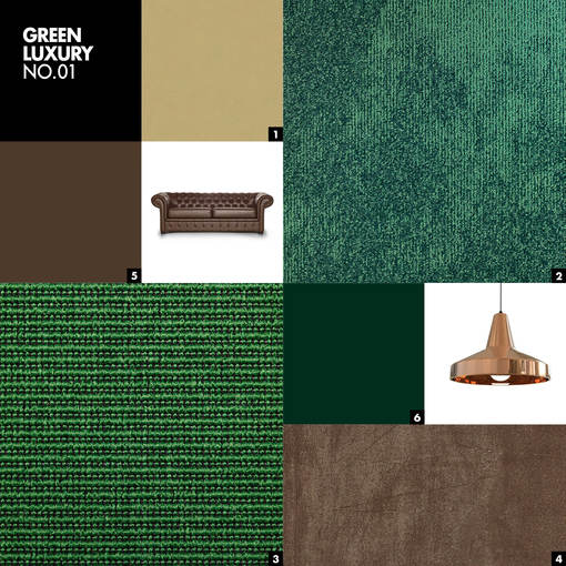GREEN LUXURY NO.01 - Color mood palet